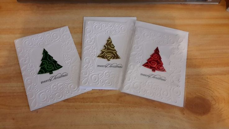 Boxed Set of Handmade Christmas Cards and Gift Cards includes Pen