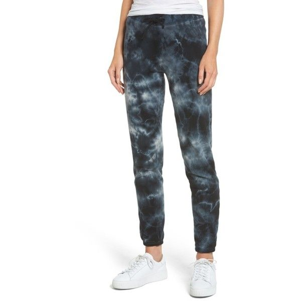 Women's Pam & Gela Tie Dye Knit Pants ($135) ❤ liked on Polyvore featuring pants and black