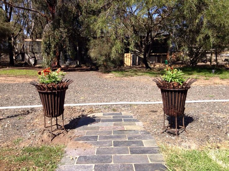 Lisa's recycled fire pits