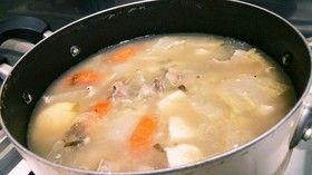 大根と豚肉♪アサリの生姜スープ煮