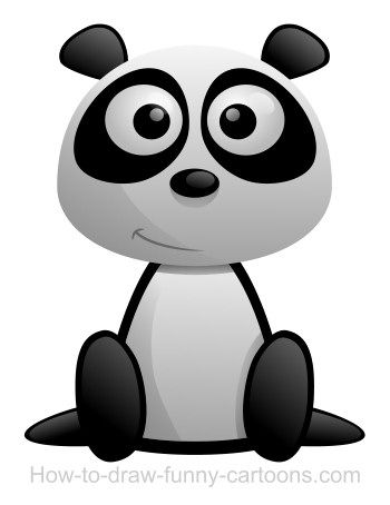 Cool cartoon panda ... almost as adorable as  the real thing!