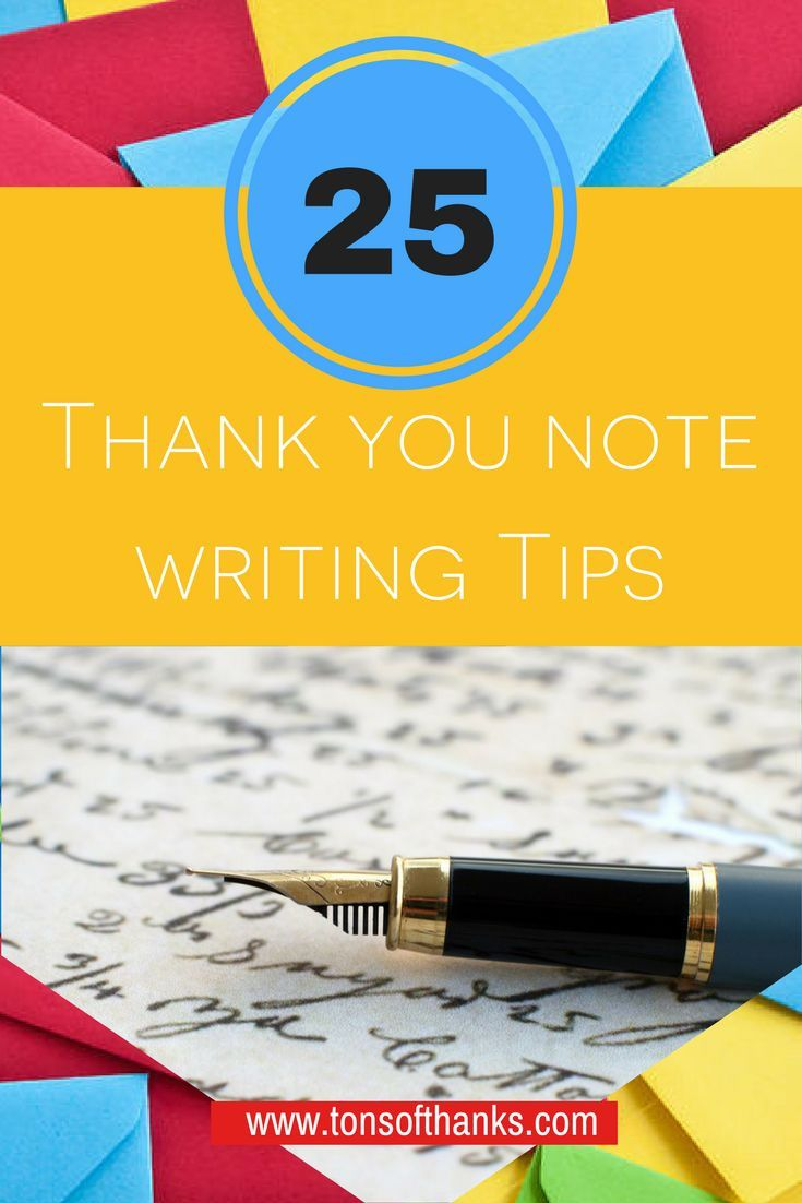 25 Thank you note writing tips 61