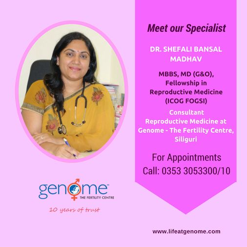 We're proud of our #fertility Consultants & #Embryology Team. Here's Introducing our consultant Dr. Shefali Bansal Madhav #lifeatgenome