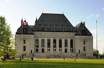 The Supreme Court of Canada in Ottawa, west of Parliament Hill