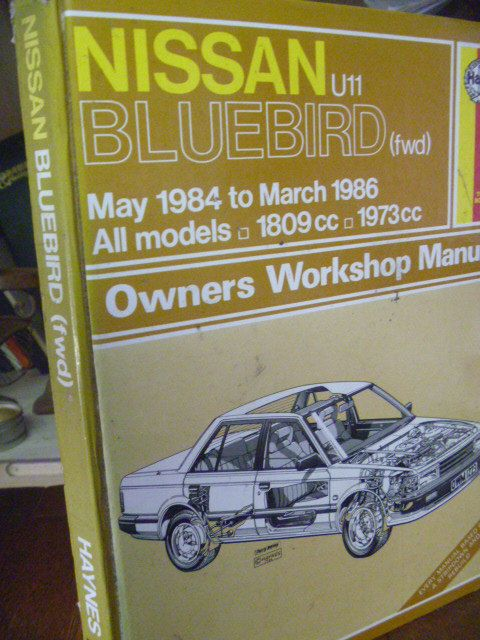 Owners Workshop Manual  NISSAN BLUEBIRD fwd by BookShopBiblioteque, €15.00
