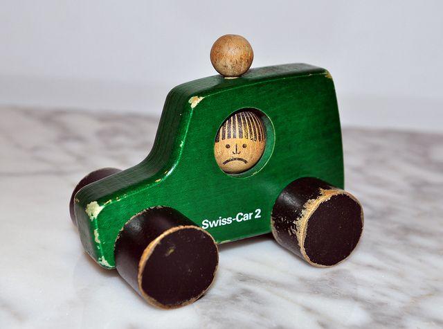 Swiss Car 2, vintage NAEF toy, designed by Peter Schweizer-Scolari