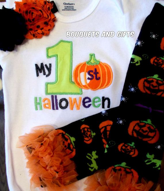 My First Halloween Onesie My First Halloween by BouquetsandGifts, $20.00