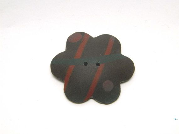 Polymer clay button decorative button by TheHappyLollipop on Etsy