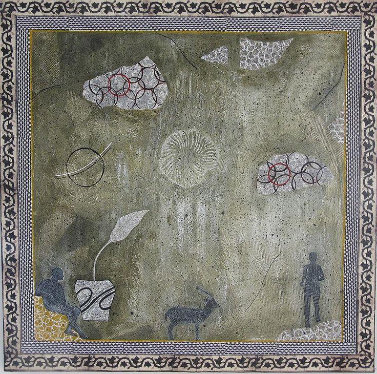 Folja Nadifa - 100 cm x 100 cm Mixed Media