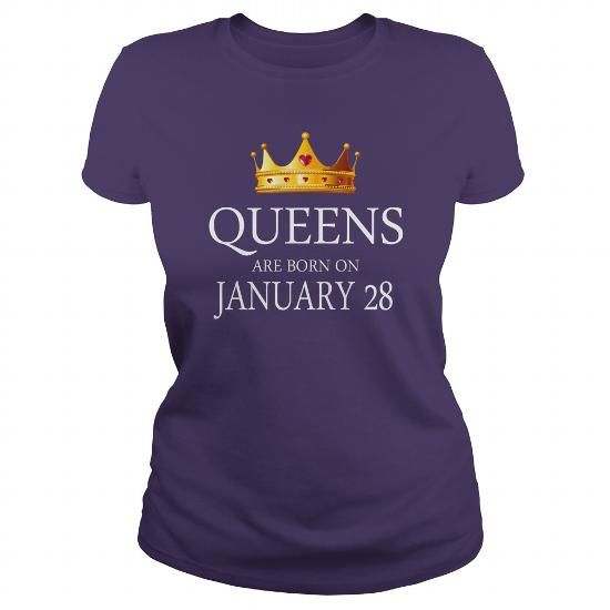 queens are Born January 28 shirts, January 28 birthday T-shirt, January 28 birthday queens Tshirt, Birthday January 28 T Shirt, queens Born January 28 Hoodie queens Vneck LIMITED TIME ONLY. ORDER NOW if you like, Item Not Sold Anywhere Else. Amazing for you or gift for your family members and your friends. Thank you! #queens #january