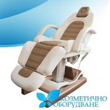 Ел. козметично легло модел КС 2322 с 4 елекромотора. 1. Удобно и стилно легло с висока функционалност. 2. Ниско ниво на шум и дълъг живот на мотора. 3. Възглавницата може да бъде отстранена. 4. Отвор за лицето. 5. Облегалката / поставката за краката може да се регулира до 80 градуса, височина може да се регулира от 58 см - 78 см,  с дистанционно, също може да се накланя до 30 градуса. 6. Леглото е разделено на четири секции. 7. Плътна метална и дървена конструкция.