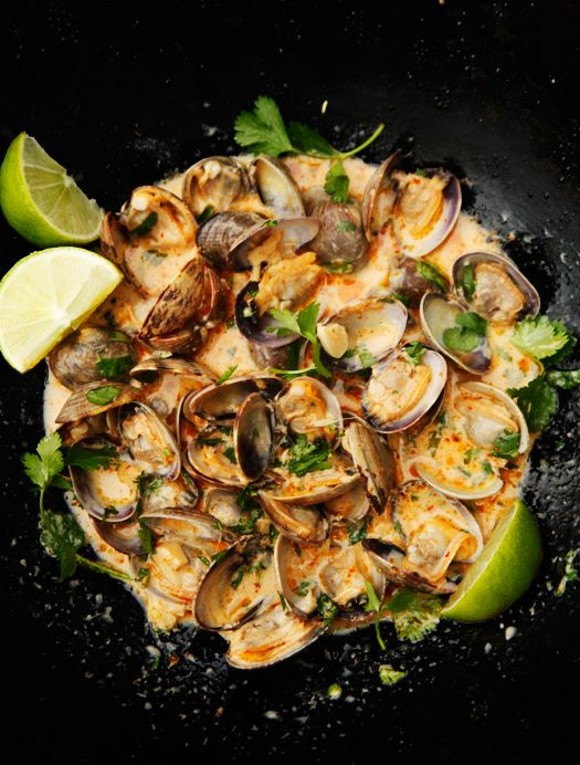 Red Curry Coconut & Ginger Clams...yum!!