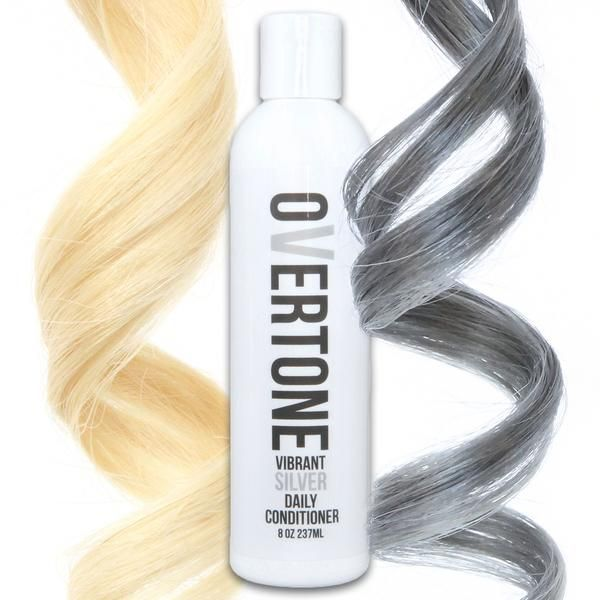 Did you know you can get silver hair at home WITHOUT a gray hair dye? oVertone color conditioners can give you a perfect silvery sheen with none of the damage.