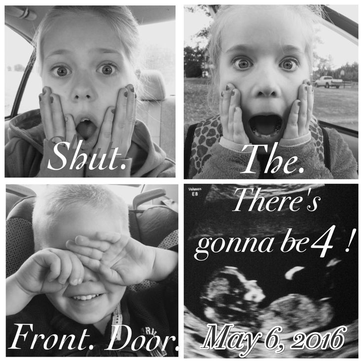 Fourth pregnancy announcement! Baby announcement shut the front door