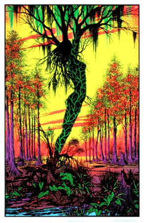 ☯☮ॐ American Hippie Bohemian Psychedelic Art ~ Swamp Lady Tree