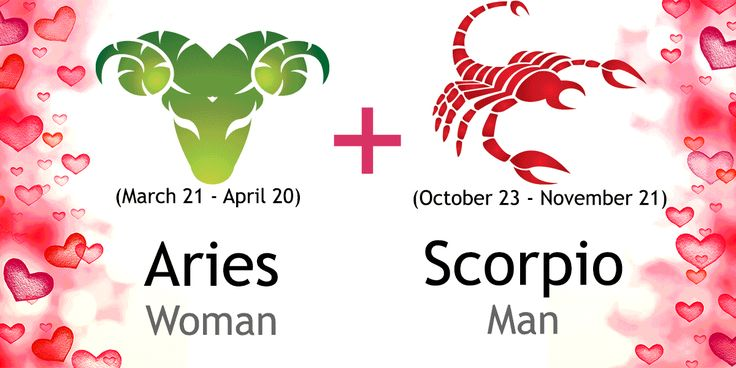 Love match compatibility between Aries woman and Scorpio man. Read about the Aries female love relationship with Scorpio male.