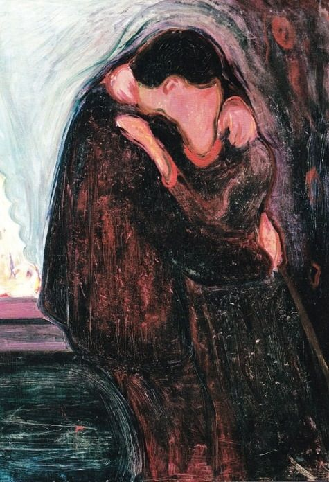 The Kiss  Edvard Munch--- tell me that man doesn't look like 9.