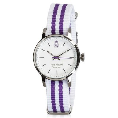 Image of Real Madrid Fashion Stripe Watch - White-Purple