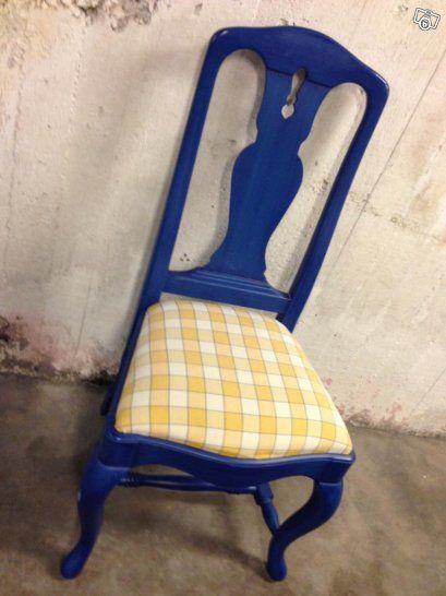 Stol rokoko linné åmells möbler