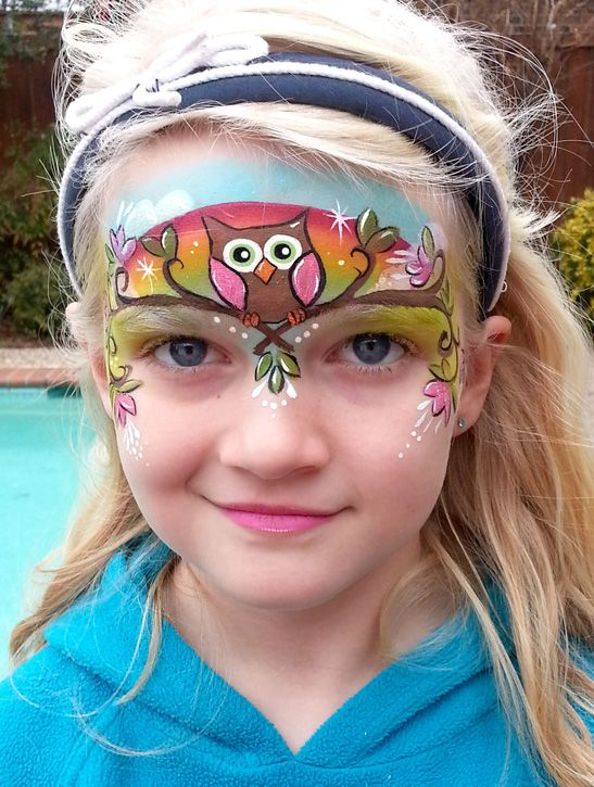 owl face painting design