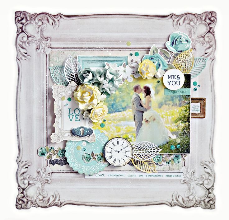 """Kaisercraft """"LOVE"""" Layout by Anna Zaprzelska 1 (using """"Blue Bay' Collection) ~ Scrapbooking Pages 1."""