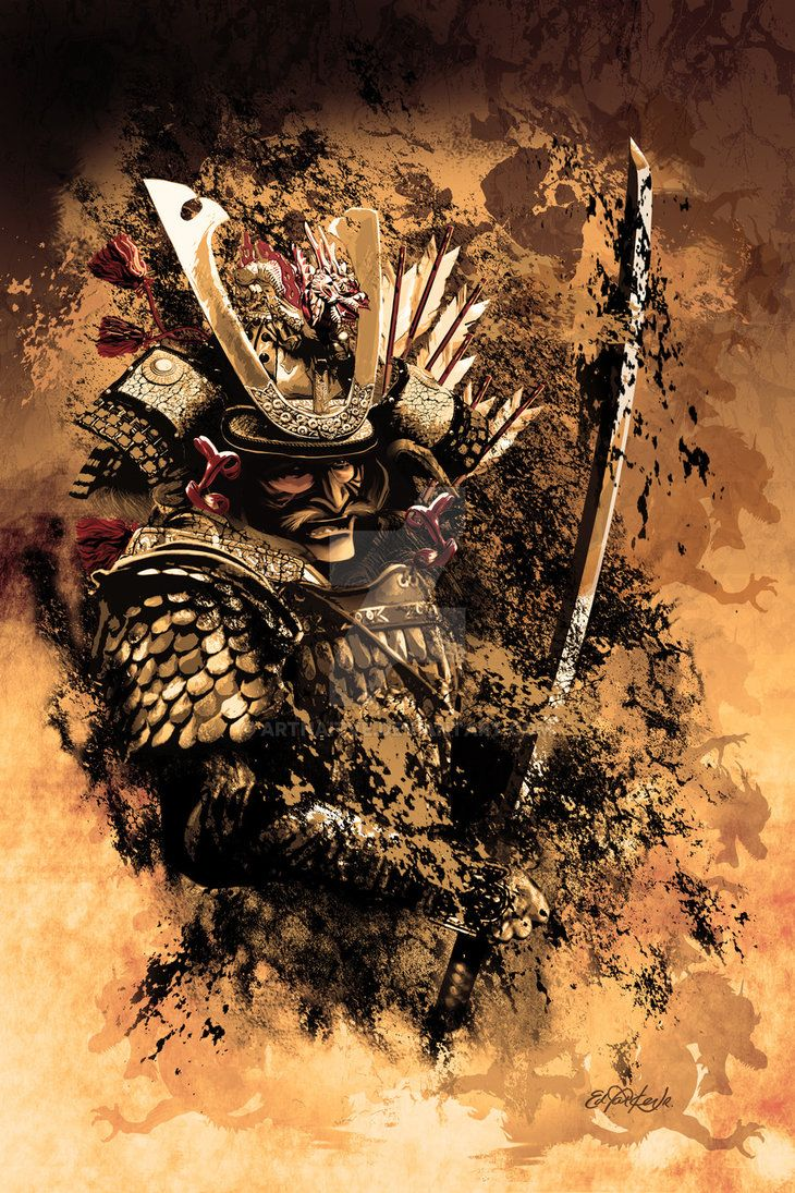 Stains of Contention - Part of my Warrior series, this one being the Samurai Warror. In this art my focus is on the contrast between chaos and order. it's all about the details.