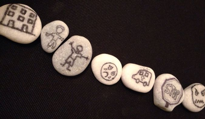 How to use story stones in counseling sessions. #schoolcounseling #mentalhealth #playtherapy #trauma #grief #feelings #socialwork