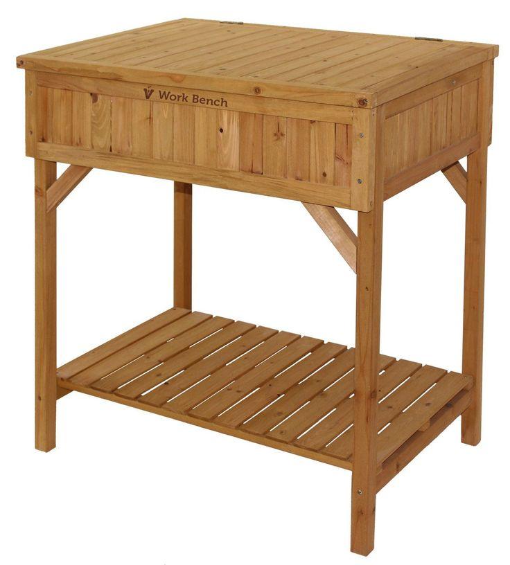 Vegtrug WWB6003N Wooden Work Bench - Natural * Find out more at the image link. #PlantsSeedsandBulbs