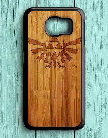 Zelda Tri Force Logo Wood Design Samsung Galaxy S6 Case