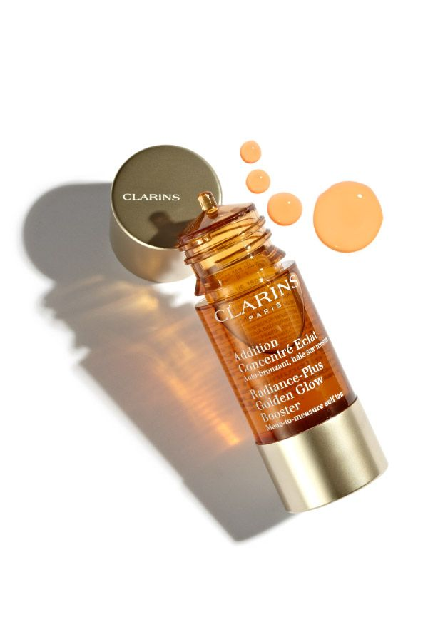 For a sun-kissed glow this summer, simply add three drops of Clarins Radiance-Plus golden glow booster to your daily moisturizer!