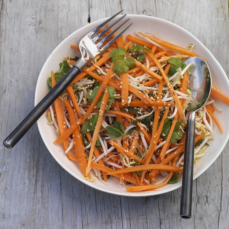 Sprout, Carrot & Sesame Salad