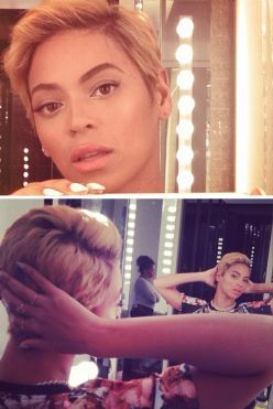 Beyonce debuts new pixie cut.