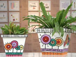 macetas de madera pintadas de utilisima.com
