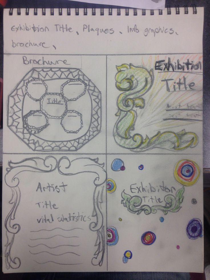 Exhibition designs and brochure sketches
