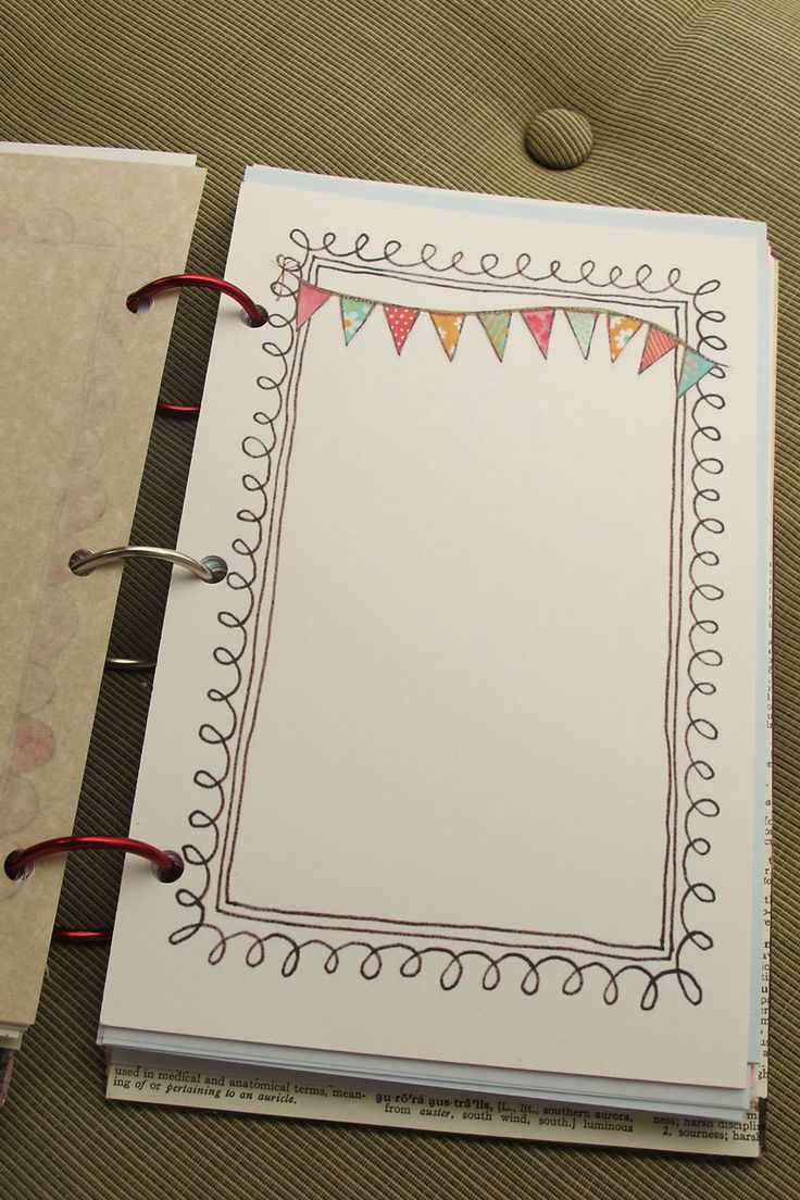 Think that I am going to make my own journal pages like this, such an awesome idea....