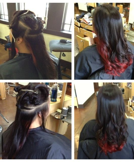 I love my dark brown hair but every once in a while I long to go vibrant red or blue... Compromise?