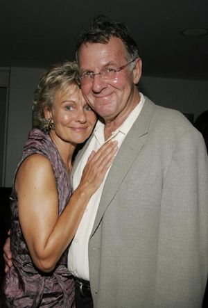 Tom Wilkinson and his beautiful wife actress Diana Hardcastle