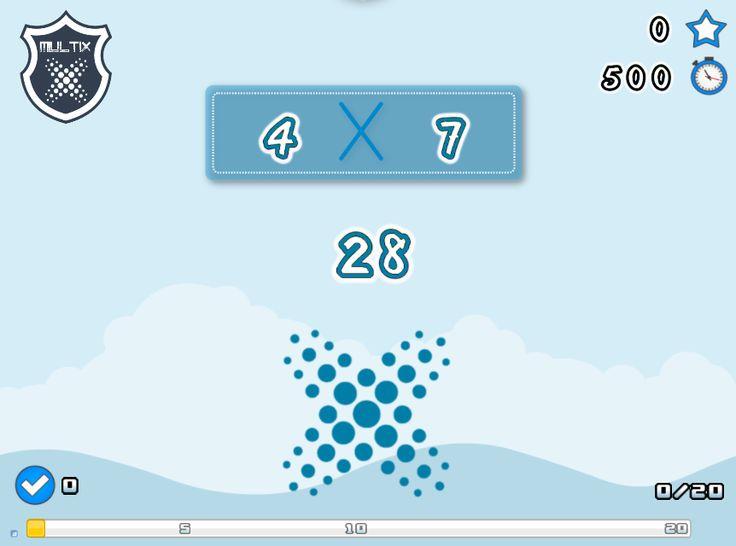 Les 25 meilleures id es de la cat gorie jeux sur les for Connaitre ses tables de multiplication