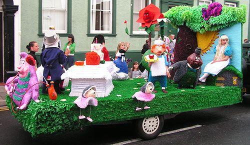 Alice in Wonderland carnival float