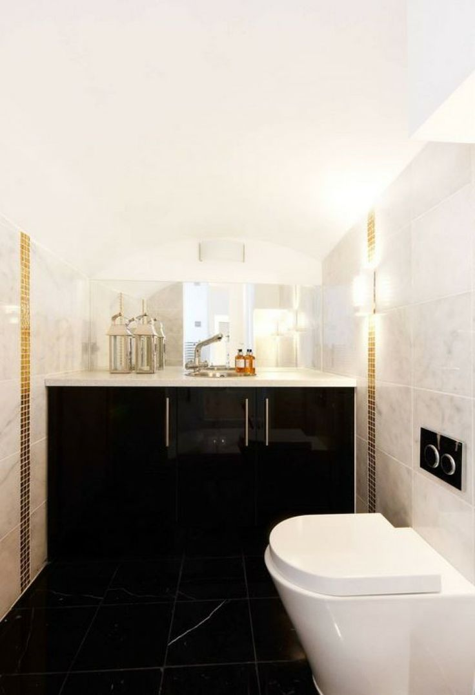 Guest cloakroom basement flat London W2 #cutlerandbond #basementflat #gardenflat #londonproperty
