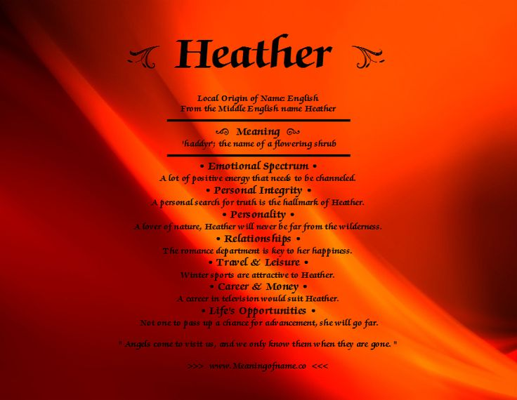 Heather - Meaning of Name