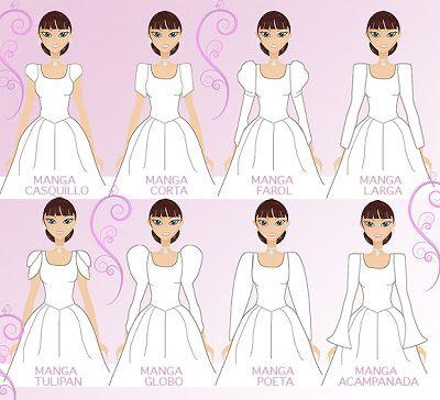 As Tontas Vão Ao Céu: Mangas para Vestidos de Noiva