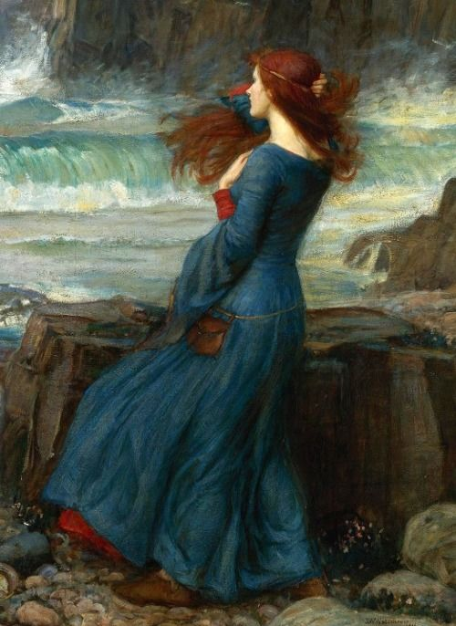 Miranda-The Tempest by Waterhouse. I love all the movement in this painting. I also really want that dress!