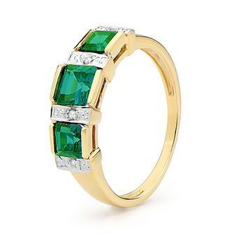 Buy our Australian made Royal Princess Emerald Eternity Ring - BEE-25371-G online. Explore our range of custom made chain jewellery, rings, pendants, earrings and charms.
