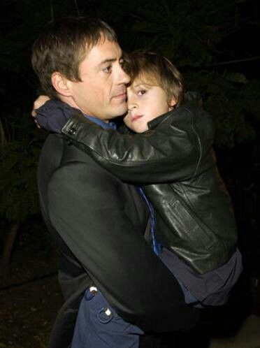 Robert Downey Jr. with son Indio