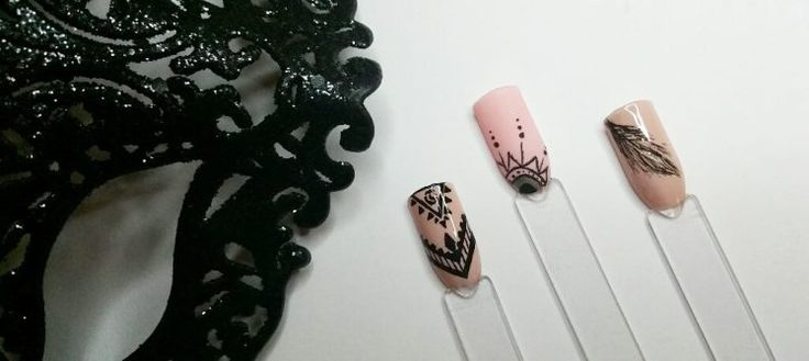 Nail art and Rapidograph
