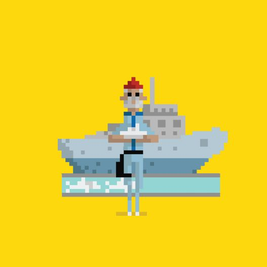 8 of Your Favorite Cult Movies Brought to Life as 8-Bit GIFs | The Life Aquatic with Steve Zissou   Dusan Cezek  | WIRED.com