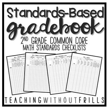 |2nd Grade Math| Common Core Standards Based Checklist or