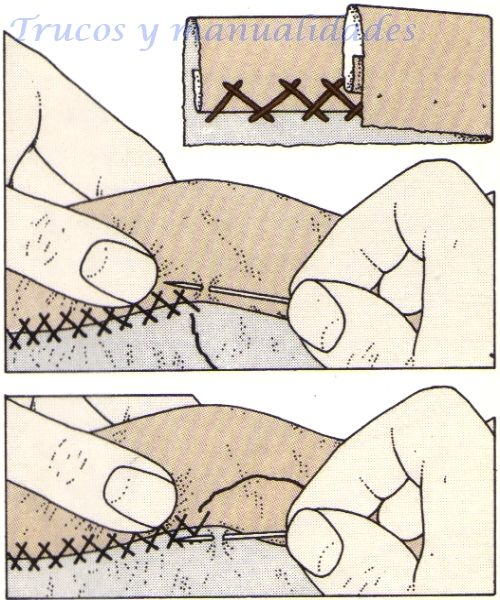 Costura a mano, Punto de escapulario                                                                                                                                                     Más