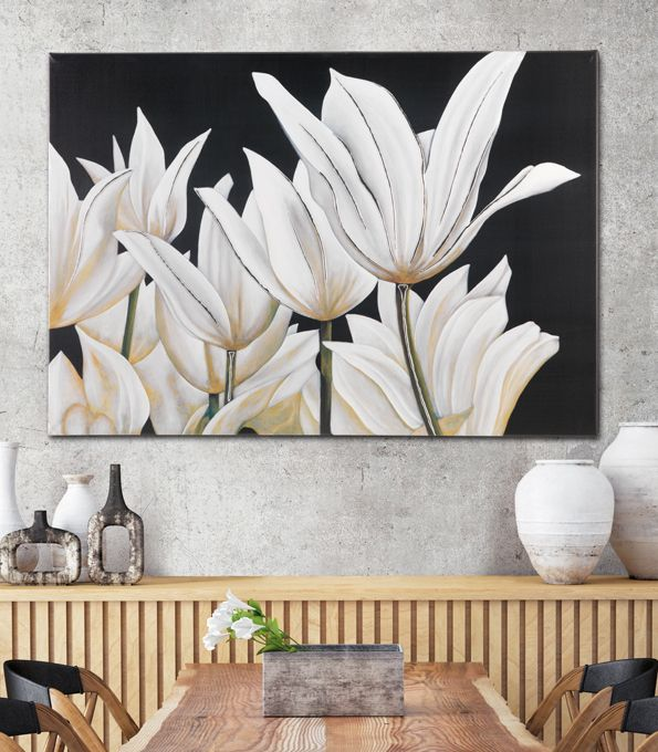 #PINTDECOR #quadro #tulipani #design #arredo #arte #madeinitaly #flowers #tela #collezione2016